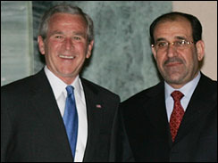 布什突然访问巴格达 将和伊拉克总理马利基会谈