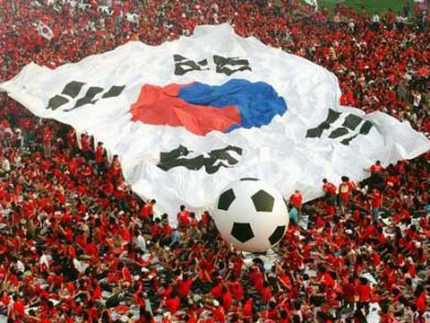 图文:韩国2-1多哥 韩国球迷庆祝胜利