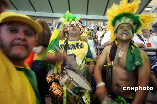 图文:巴西1-0克罗地亚 场内为巴西队助威