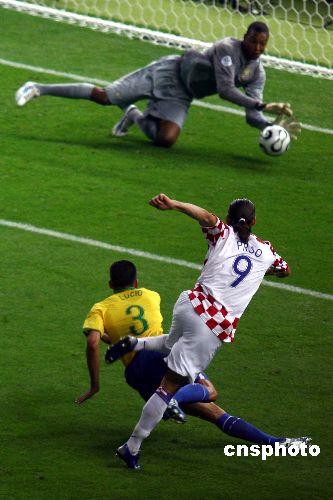 图文:巴西1-0克罗地亚 克罗地亚失进球机会