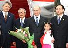 俄罗斯总统普京抵达上海