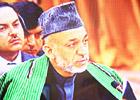 阿富汗总统卡尔扎伊发言
