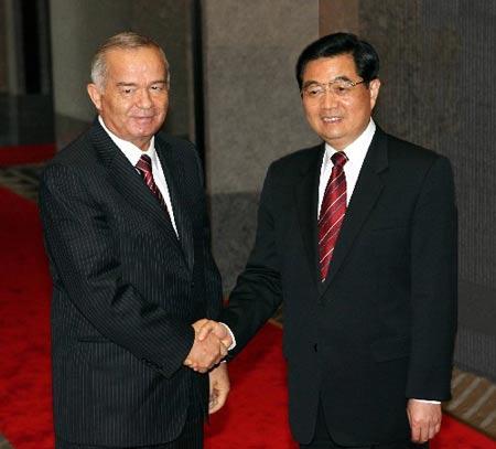 胡锦涛主席会见乌兹别克斯坦总统卡里莫夫(图)