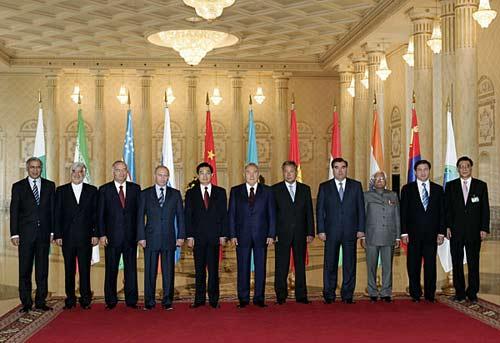 历届上海合作组织峰会回顾(组图)