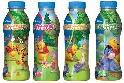 """""""汇源---迪士尼""""打造儿童果汁饮料新时代"""