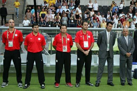 独家图片:瑞典VS巴拉圭 瑞典队教练组