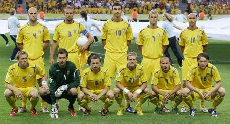 组图:瑞典VS巴拉圭 瑞典首发阵容