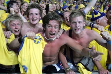 图文:瑞典1-0巴拉圭 幸福来得太突然