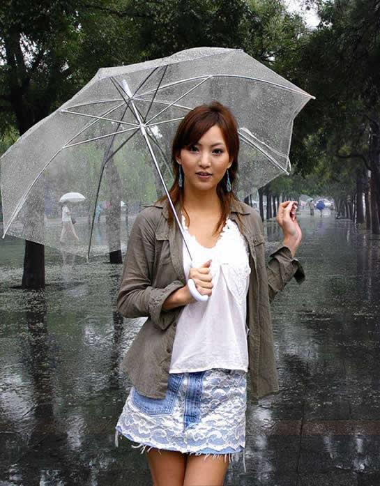 Photoshop打造动态雨中的MM动画