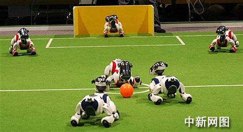 """""""这的表演也精彩"""" 机器人足球世界杯开赛(图)"""