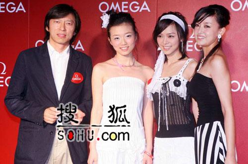组图:张朝阳携sogou女声与妮可出席名表派对