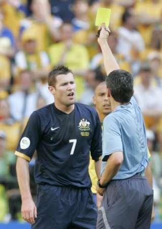 组图:巴西VS澳大利亚 埃默顿被黄牌警告