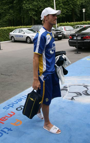 图文:搜狐采访瑞典驻地 梅尔贝里走进酒店