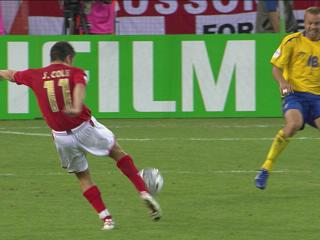 幻灯:瑞典VS英格兰首粒进球 科尔的经典入球