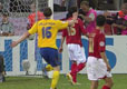 瑞典队员庆祝进球