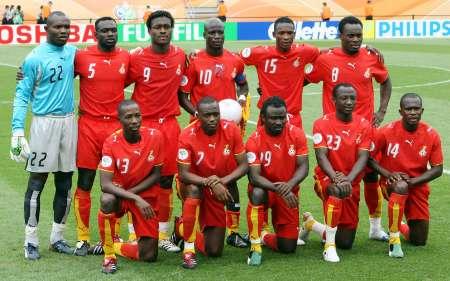 图文:加纳VS美国 加纳的首发阵容