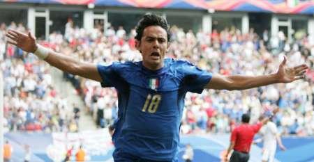 组图:捷克VS意大利 因扎吉庆祝进球