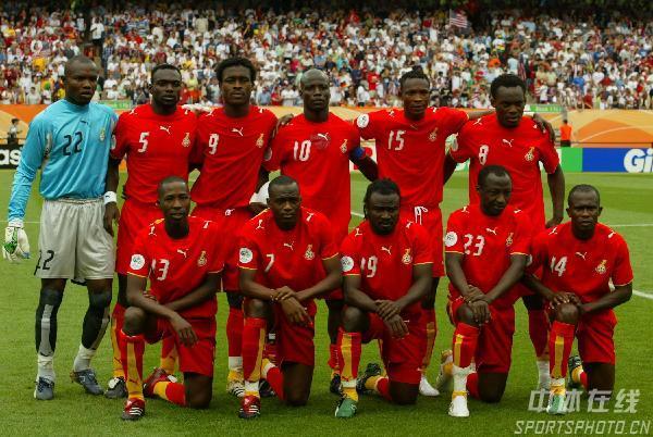 图文:加纳2-1美国 加纳队首发阵容