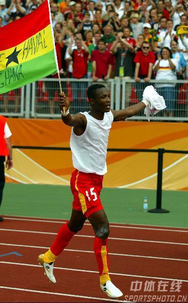 图文:加纳2-1美国 加纳潘特希尔庆祝胜利