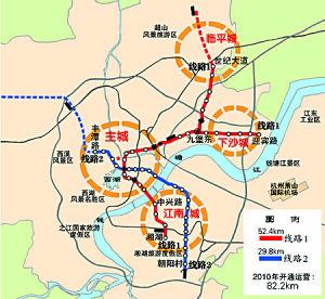 杭州地铁一号线和二号线示意图图片