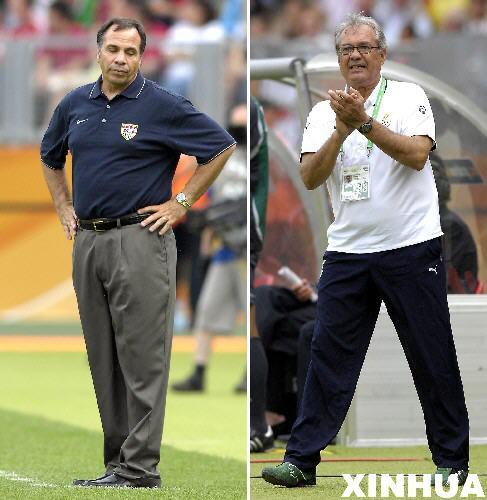 图文:加纳2-1美国 两队教练表情迥然