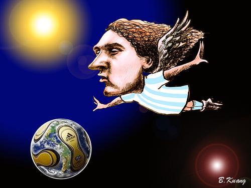 图文:我爱世界杯 梅西—未来的球王