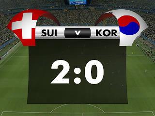 幻灯:瑞士VS韩国第二个进球 弗雷推射空门得分