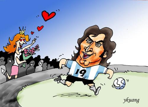 图文:我爱世界杯 梅西球技出众吸引荷兰公主