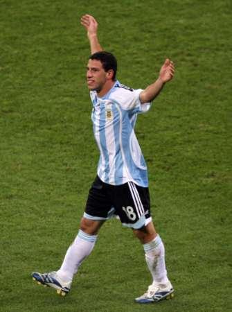 组图:阿根廷VS墨西哥 马克西庆祝进球