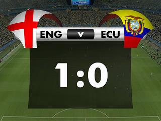 幻灯:英格兰VS厄瓜多尔首个进球 贝氏弧线破门