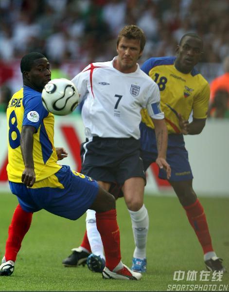 图文:英格兰1-0厄瓜多尔 小贝被严加看管起来