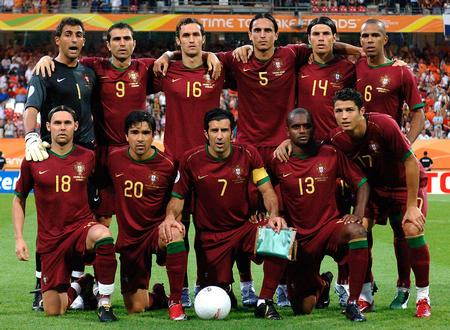 图文:葡萄牙1-0荷兰 葡萄牙队首发阵容