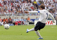 06德国世界杯之星,贝克汉姆,勇敢的心,英格兰