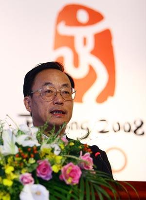 图文:08奥运会第二次赞助商大会 刘敬民致辞