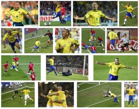 组图:巴西3-0加纳 罗纳尔多世界杯15球放送