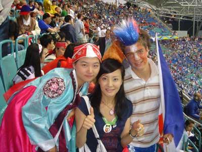 陶红亲历法韩大战 法国球迷可爱韩球迷请白菜
