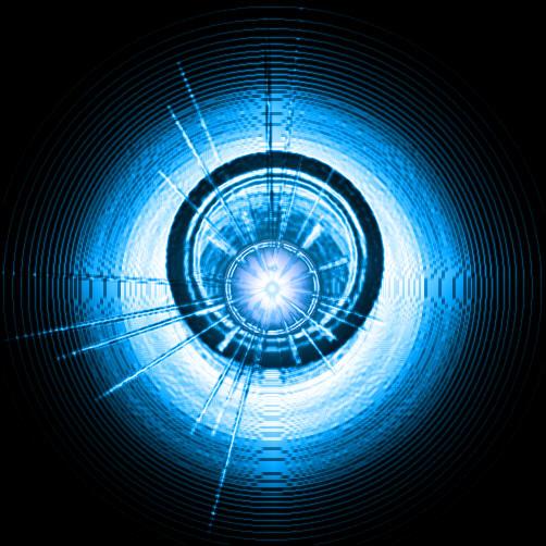 天极设计在线_Photoshop滤镜打造蓝色魔圈特效