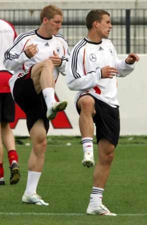 图文:世界杯1/4决赛前瞻 德国锋线杀手加练