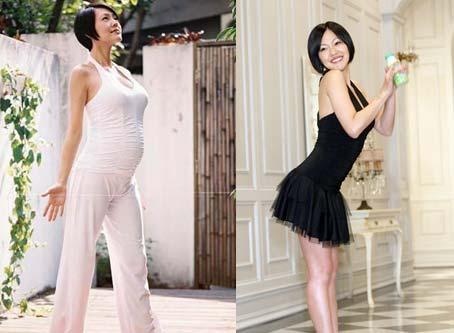 产前产后身材对比 明星妈妈瘦身令人叹服(图)
