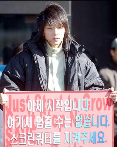 Rain李俊基等7月1日示威 抗议电影配额制(图)