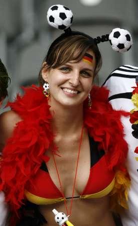 图文:德国VS阿根廷 德国性感球迷