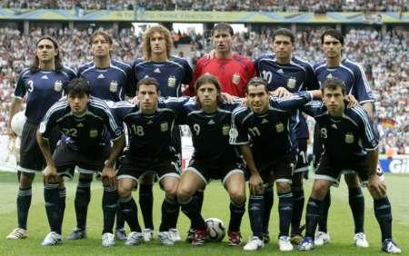 图文:德国VS阿根廷 阿根廷首发阵容