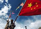 藏民与五星红旗
