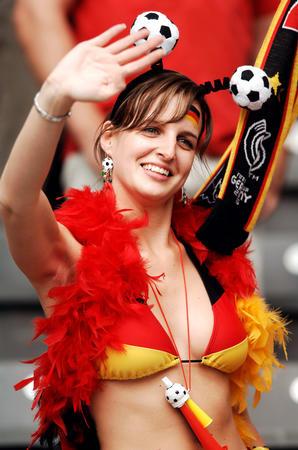 图文:德国VS阿根廷 德国队球迷激情已被点燃