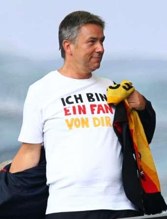 图文:德国VS阿根廷 德国球迷展现风采