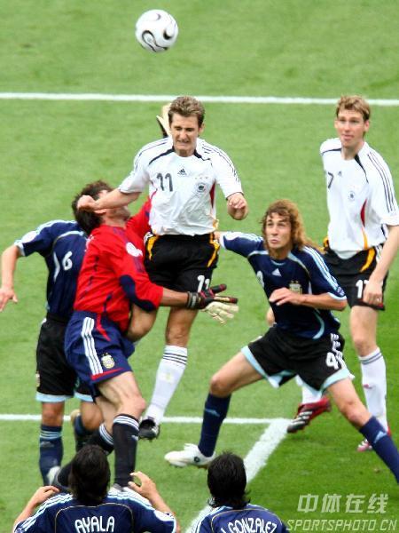 图文:德国5-3阿根廷 德国队进球功臣克洛斯