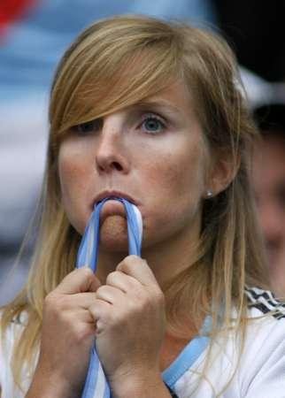图文:德国5-3阿根廷 阿根廷球迷很失望
