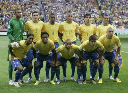 图文:巴西VS法国 巴西首发阵容