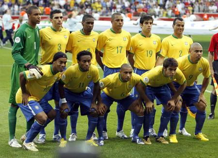 图文:巴西VS法国 巴西队首发阵容