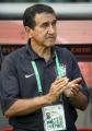 图文:巴西0-1法国 巴西主教练佩雷拉在观战